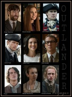 The main cast for Outlander_Starz Season 3 Voyager