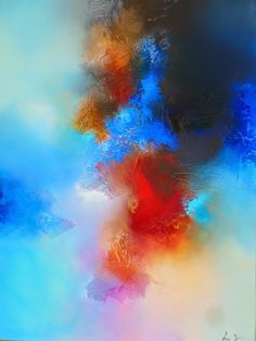 Oil and mixed media abstract paintings on canvas by artist Simon Kenny.