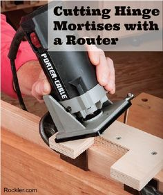 Top Trim Routing Techniques: Cutting Hinge Mortises. Rockler.com Woodworking Tools. #router