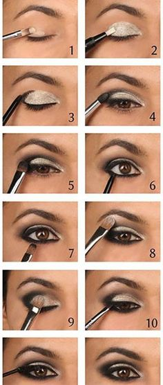 awesome smokey eyes makeup is definitely an art.- awesome smokey eyes makeup is definitely an art.todays round up is a little diff… awesome smokey eyes makeup is definitely an art.todays round up is a little different than usual - Eyeshadow Tutorial For Beginners, Smokey Eye Tutorial, Eyeshadow Tutorials, Easy Smokey Eye, Silver Smokey Eye, How To Smoky Eye, Eye Shadow For Beginners, Beginner Makeup Tutorial, Makeup Tips For Beginners