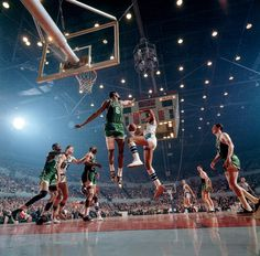 Bill Russell and Elgin Baylor, Los Angeles 1965