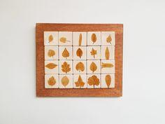 Tablou cu motive vegetale: frunze #4 | Corina Marina Ceramics Coasters, Frame, Home Decor, Picture Frame, Decoration Home, Room Decor, Coaster, Frames, Home Interior Design
