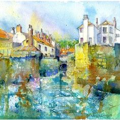 Robin Hoods Bay, Textures - Quality Fine Art Print By Sheila Gill. | Greetings Cards | Prints | Gift Wrap
