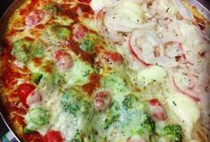 Pizza sem farelos (couve-flor)