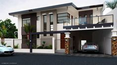 House, two story house design, modern house design, filipino house, small. Two Story House Design, House Front Design, Modern House Design, Small House Exteriors, One Storey House, Kerala House Design, Modern Mansion, Modern House Plans, Facade House