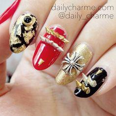Nail Art Jewelry Charm - Spike Crown / Silver