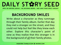 ✿ Daily Story Seed ✿Background Smiles