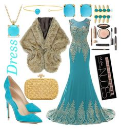 """Blue Bridesmaid"" by northern-queen ❤ liked on Polyvore featuring Charlotte Russe, Manolo Blahnik, Effy Jewelry, David Yurman, Jemma Wynne and Bottega Veneta"