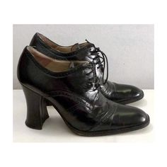 Black Lace Up High Heel Brogue Oxford Shoes, I use to wear these in the 70's Loved them and still have them to this day :)