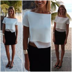 cropped top Cropped Top, One Shoulder, Crop Tops, Blouse, How To Wear, Women, Fashion, Moda, Fashion Styles