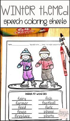 These winter themed coloring worksheets are a fun way for your speech students to target a variety of phonemes during speech sessions. Most sounds, including blends and vocalic /r/ are part of this no prep printable speech product. These sheets are ideal to keep on hand in the speech room or can be used to send home as speech homework. There are 4 motivating themed worksheets included with the speech sound word lists. Great for the busy or traveling SLP! Over 200 worksheets are included!