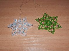 Vánoční korálky III - Vločky Crochet Earrings, Jewelry, Jewlery, Jewerly, Schmuck, Jewels, Jewelery, Fine Jewelry, Jewel