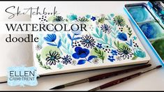 Sketchbook Watercolor Doodles and dealing with frustration when painting Watercolor Flowers, Watercolor Paintings, Floral Paintings, Watercolour Tutorials, Painting Tutorials, Dealing With Frustration, Watercolours, The Creator, Projects To Try