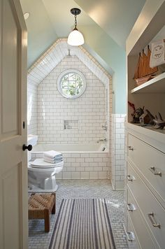 An attic bathroom! Awesome! Clever Confidante by Julie Webber