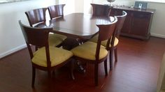 Miami: DINING TABLE, 6 CHAIRS AND BUFFET - REAL WOOD -  $380 - http://furnishlyst.com/listings/410950