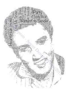 Elvis Presley Word-Art Print Mounted/Framed/Tote by SprattPrints