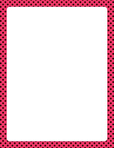 Printable pink and black polka dot border. Free GIF, JPG, PDF, and PNG downloads at http://pageborders.org/download/pink-and-black-polka-dot-border/. EPS and AI versions are also available.