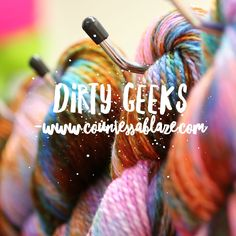 There's a small number of this one-off batch of yarns left. Dirty Geeks was made by accidentally adding the wrong colour to the pot - that awful moment of throwing 50 skeins into the dye pan and realising it's the wrong colour! However it made an amazing new non-repeatable colour so I did not complain too much. . . . #countessablaze #yarn #indiedyer #indiedyersrock #britishwool #ravelry #knitting #crochet #weaving #craft #tricot #makersgonnamake #ukdyer #dyersofinstagram #knittersofinstagram…