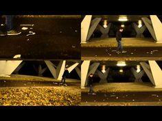 Shard football: Ode to Joy performed on broken dishware beneath an underpass.