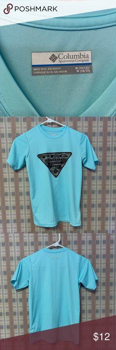 5a01a7a431f Boys Columbia PFG shirt size M Bright blue PFG Never been worn Size M boys  Shirts