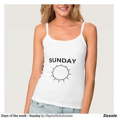 Days of the week - Sunday Spaghetti Strap Tank Top