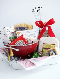 Taste of minnesota gift basket ole lena fortune cookies holiday artisan mac and cheese basket and a free printable recipe card foodiecrush negle Gallery