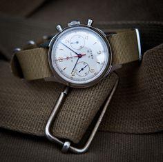Chinese mechanical Pilot watch. 1963 Replica. Runs perfect :-)