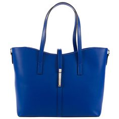 Mila Blu Blue & Silver Leather Tote ($100) ❤ liked on Polyvore featuring bags, handbags and tote bags
