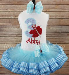 Check out this item in my Etsy shop https://www.etsy.com/listing/276118594/wizard-of-oz-birthday-tutu-outfit