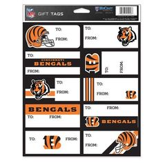 Cincinnati Bengals GIFT TAG SHEET OF 10 *** Click image for more details.