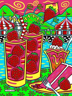 Strawberry Festival, © Chuck Trunks, Precision Abstracts