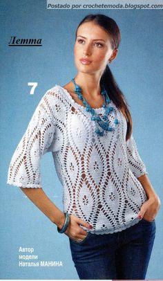 Crochetemoda, crochet shirt