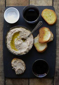 white bean & rosemary crostini with sopressata and parmesan via VersesFromMyKitchen.com