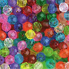 Beads-I must have had billions of them for doing crafts. The best ones were from old necklaces.