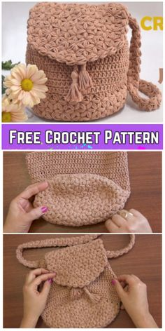 Jasmine Stitch Backpack Free Crochet Pattern Video Tutorial