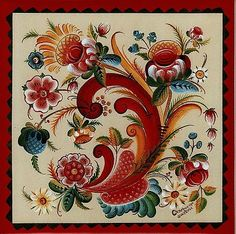 I love Rosemaling!  Art by Gayle Oram