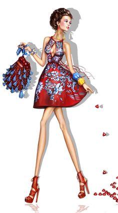 Fashion Sketch: Florals / Pergamino