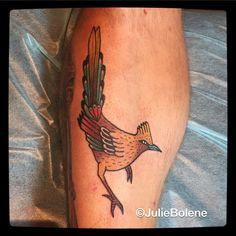 roadrunner tattoo by Julie bolene