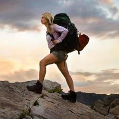 Get fitness prepared for Backpacking - HIIT: High-Intensity Interval Training. I do this because I don't have the time for long cardio sessions, and this gives great results for burning calories, strengthening your heart, lungs, legs and building stamina & endurance.