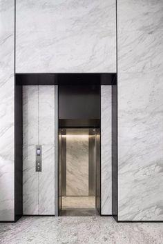 Hall Design, Door Design, House Design, Elevator Lobby Design, Hotel Corridor, Office Entrance, Lift Design, Design Design, Glass Elevator