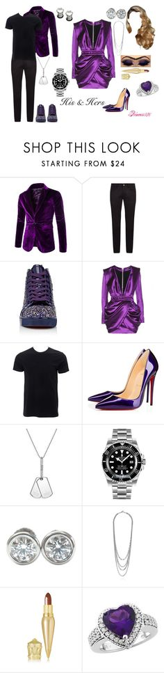 """""""Matching but not matchy matchy!"""" by princess976 ❤ liked on Polyvore featuring Dolce&Gabbana, Christian Louboutin, Balmain, Simplex Apparel, Gucci, Rolex and Tiffany & Co."""