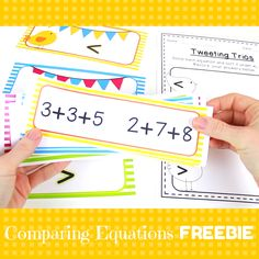 {FREE} Comparing Equations with Three Addends: Tweeting Trios by Catherine Reed - The Brown Bag