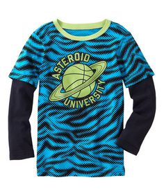 Look at this #zulilyfind! Turquoise Space Tee - Toddler & Boys by FabKids #zulilyfinds
