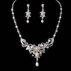 Bruiloft sieraden set zoetwater echte parel jaren door retrobridal