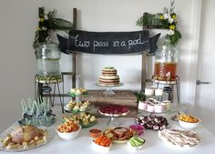 Two Peas in a Pod Baby Shower - Chalkboard banner sign. Minty Mary Pea, Event Styling & Prop Hire