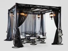 SOLE Gartenpavillon mit Faltdach by Samuele Mazza Outdoor Collection by DFN Design Samuele Mazza