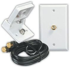 JR Products 47815 White Cable TV Installation Kit