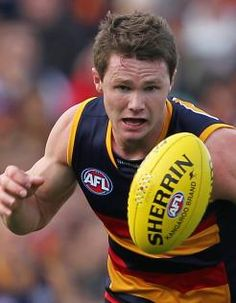 Patrick Dangerfield: I adore he still shakes hands with his opponents before he starts a game - just like his dad instructed from childhood. Such a lovely boy. Sports Stars, Crows, Football Team, Orlando, Crushes, Childhood, Hands, Club, Game