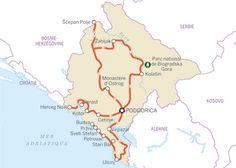 08-full-monte-itin-mot2.jpg       Cet itinéraire de 770km couvre la plupart des grands sites du Monténégro. Nous ne sommes pas trop directifs quant aux étapes, et le programme laisse le loisir de vous attarder un jour ou deux dans les endroits qui vous plaisent.