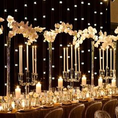 Night time baroque table setting